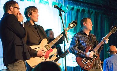 (l-r) Joe Nosek, Thaddeus Krolicki, Gerry Hundt (background), Little Frank and Kenny Smith