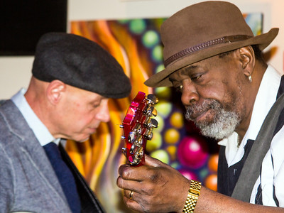 Frank Falduto (l) and Lurrie Bell | Frank Falduto's Birthday Bash, FEB 3, Studio Winery, Lake Geneva, WI