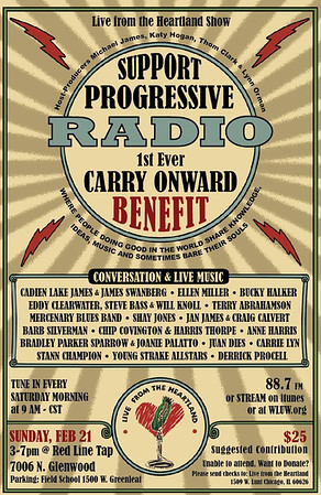 Poster for the Feb. 21 Carry Onward Benefit