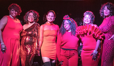 The Queens of the Rhythm and the Blues (l-r): Joy, Tracee Adams, Katie Bates, Brenda Taylor, Myra Washington and Ms. Trysh
