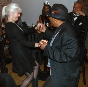 Trish Rickets dances with Lil' Rob (Original Chicago Blues Allstars)