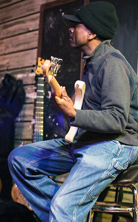 Orlando Wright (bass player, Buddy Guy's band)  sits in with Frank Bang and the Cook County Kings