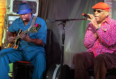 1.3.19 @ Legends | Eddie Taylor Jr. (l) with Harmonica Hinds