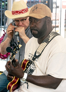 8.11.18 @ Noble Square Block Party | Eddie Taylor Jr. (l) with Scott Dirks