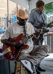 8.11.18 @ Noble Square Block Party | Eddie Taylor Jr. (l) wThaddeus Krolicki