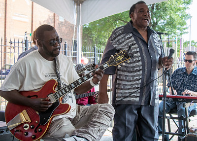 8.11.18 @ Noble Square Block Party | Eddie Taylor Jr. (l) with Willie Buck