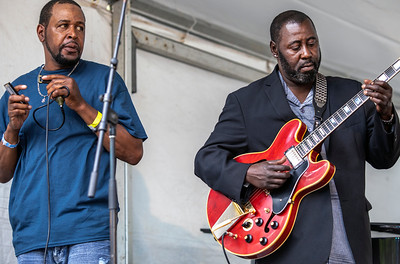 2018 Chicago Blues Festival | Eddie Taylor Jr. (r) with Steve Bell