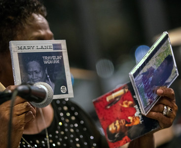 Mary Lane with her CDs