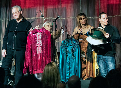 Auctioning off some of Eddy Clearwater's performance wardrobe to benefit The Hart Fund