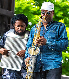 Washboard and horns (Terrance Simien and the Zydeco Experience) | Budweiser Crossroads Stage