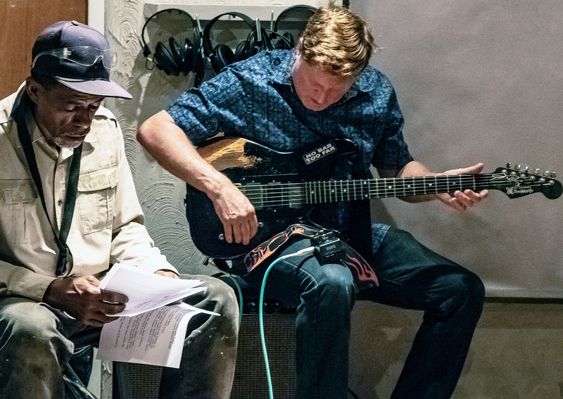 Hank Ford (l) and Dave Weld | Delmark Rehearsal for Blues Fest