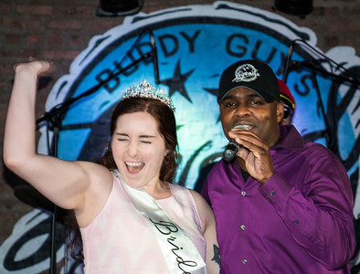 An exuberant Bride-To-Be from Kentucky and MC Johnny