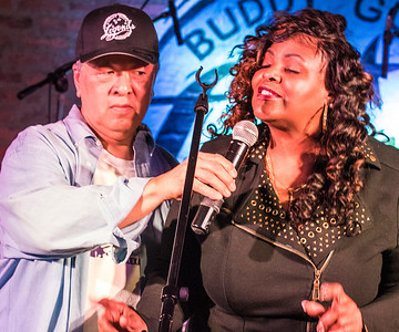 Phil Moy and Marion Diaz Reacco (Little Walter's daughter)