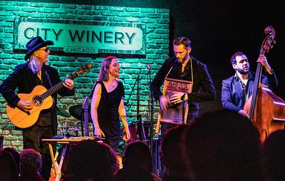 (l-r) Jerry (Not the Moby Grape guy) Miller, Eilen Jewell, Jason Beek and Bass Player | Eilen Jewell Band