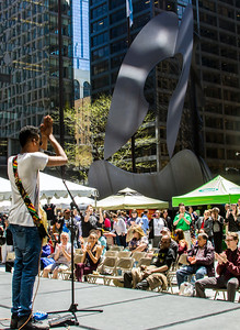 Jamiah Rogers opens the City Marker season at Daley Plaza