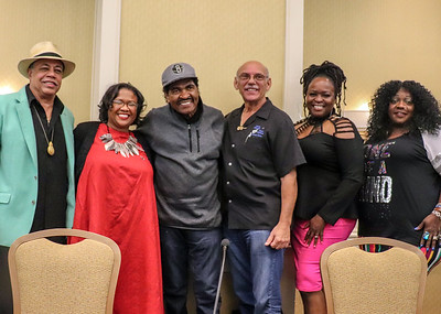 (l-r) Billy Branch, Moderator Noelle Trent (National Civil Rights Museum), Bobby Rush, Paul Benjamin, Terrie Odabi and Thornetta Davis | PANEL: The Blues and Race, Part 2
