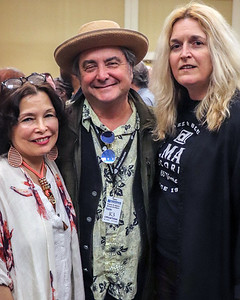 (l-r) Rosa Enrico Branch (Mrs. Billy Branch) with Delmark owners Elbio Barilari and Julia Miller