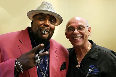 Sugaray Rayford (l) with Paul Benjamin