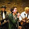 A BluesKid (from Fernando Jones' group) with (l-r) Freddie Dixon and Motor Row Bob