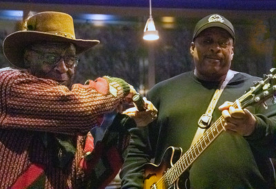 Bob Stroger (l) with Rico McFarland