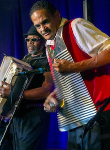 CJ Chenier (l) and Clifford Alexander | CJ Chenier & The Red Hot Louisiana Band