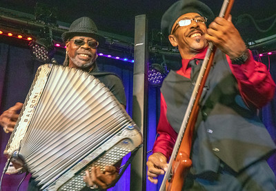 CJ Chenier (l) and John Frederick | CJ Chenier & The Red Hot Louisiana Band
