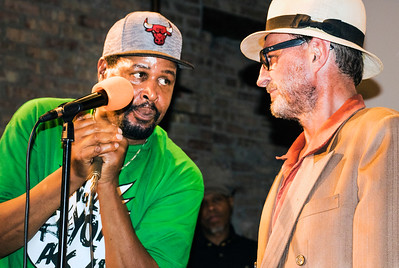 Steve Bell (l) and Manchester (Original Chicago Blues Allstars Anniversary Party and Awards ) | Motor Row Brewing