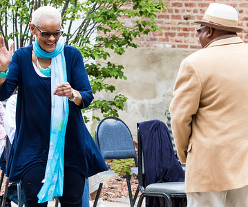 Dancers just had to dance during the Lamont Harris Band   Blues Heaven Foundation's Garden