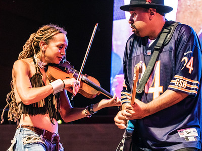 Anne Harris (Otis Taylor Band) and Wayne Baker Brooks