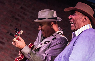 5.3.17 @ Little Walter Birthday Celebration, Legends | (l-r) Ronnie Baker Brooks and Eddy Clearwater