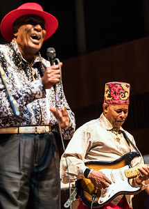 OCT 13-15, 2017 @ Logan Center Blues Fest, University of Chicago | (l-r) Eddy Clearwater and Lil' Ed Williams