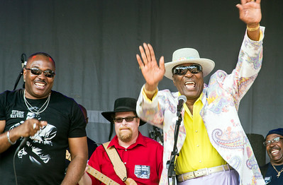 7.16.17 @ Taste of Westmont | (l-r) Joe Morganfield, Tom Holland, Eddy Clearwater and Larry Williams