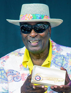 7.16.17 @ Taste of Westmont | Eddy Clearwater with the Key to the City of Westmont