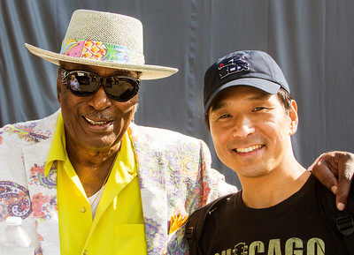 7.16.17 @ Taste of Westmont | Eddy Clearwater (l) with longtime fellow band member Shoji Naito