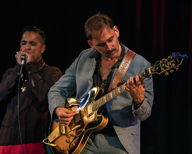 Johnny Burgin (r) with Aki Kumar | Johnny Burgin's CD/LP RELEASE PARTY