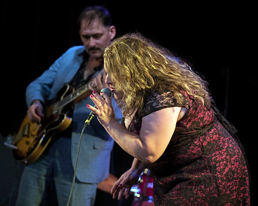 Rae Gordon with Johnny Burgin in background  | Johnny Burgin's CD/LP RELEASE PARTY