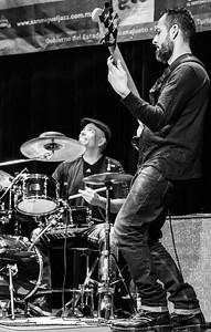 Vanessa Collier Band   Carlos Orozco (bass) and Carlos De Aguinaga (drums)