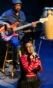 Sharisse Norman (with Leroy Hodges in background)