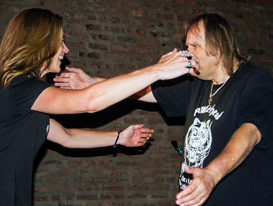 Old friends meet: Kate Moss and Walter Trout