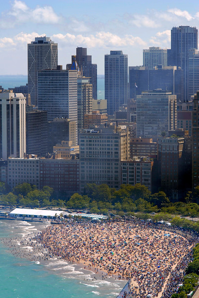Chicago Air and Water Show, Oak Street Beach