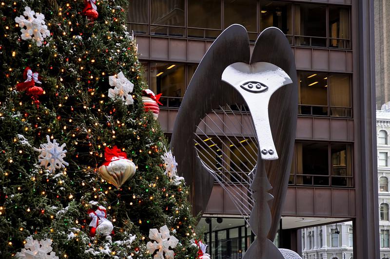 Daley Plaza during Christmas holiday season