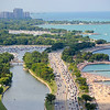 Lake Shore Drive is flanked by beaches and parks