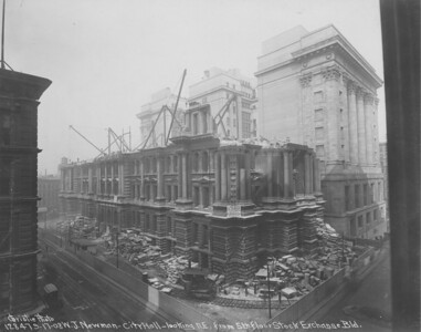 Cook County building demolition, Washington and Clark, 1904-5.  Photographer: Unknown Source: Chicago Historical Society (ICHi-37019)   http://encyclopedia.chicagohistory.org/pages/3375.html