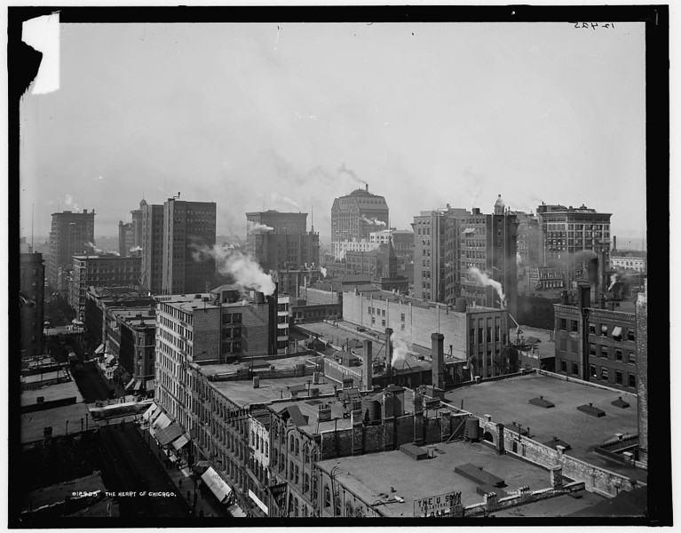Title: The Heart of Chicago Related Names:    Detroit Publishing Co. , copyright claimant    Detroit Publishing Co. , publisher Date Created/Published: [c1900 or 1901]   http://www.loc.gov/pictures/item/det1994007788/PP/