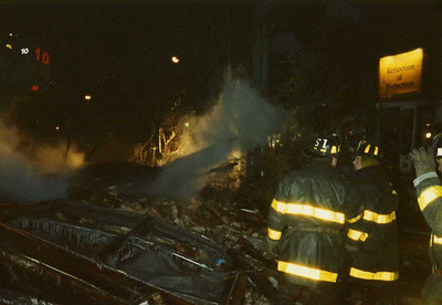 Uncle Jim ... Middle firefighter ... Working the gas explosions in '92