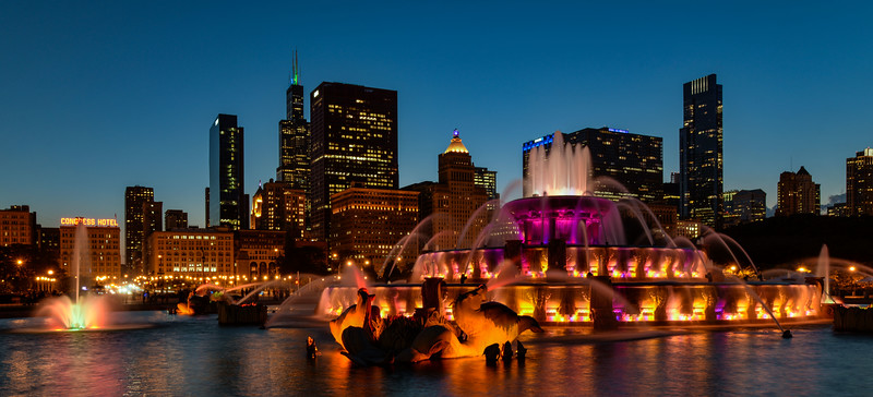 Fountain And Skyline