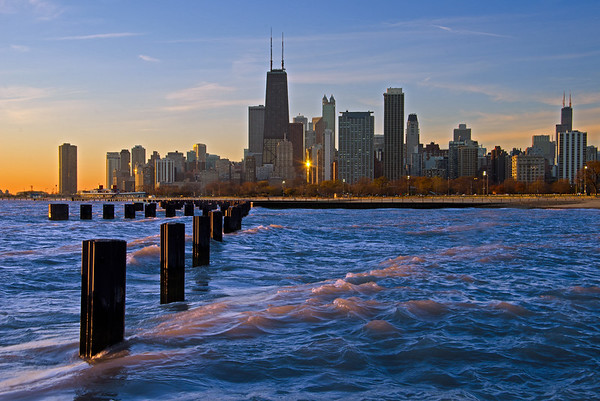Chicago At Dawn