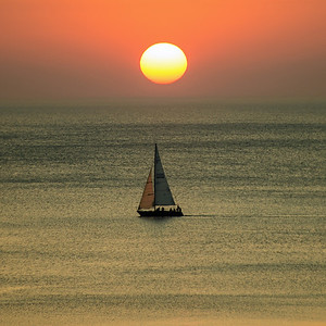 Summer Sailing At Sunrise