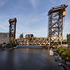 Chicago Amtrak Railroad Bridge Pan 8433