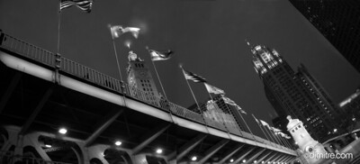 Michigan Ave Flags Bridge 074